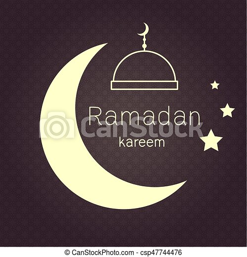 Ramadan kerim eastern arabic background with frame and white moon ramadan kerim eastern arabic background with frame and white moon template design for greeting card banner poster invitation vector illustration stopboris Images
