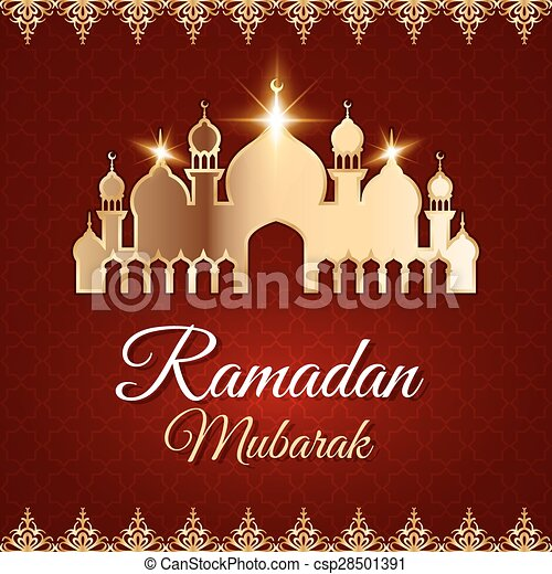 Ramadan mubarak greeting card with mosque ramadan mubarak greeting ramadan mubarak greeting card with mosque csp28501391 m4hsunfo