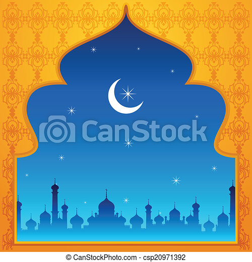 Ramadan kareem ( ramadan feliz) fondo - csp20971392