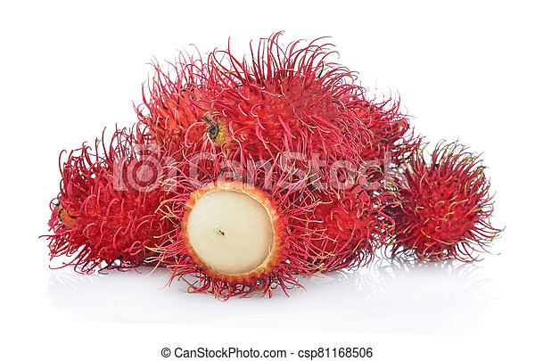 Rambutans isolated on white background - csp81168506
