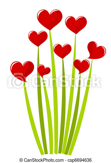 Bouquet de corazones - csp6694636