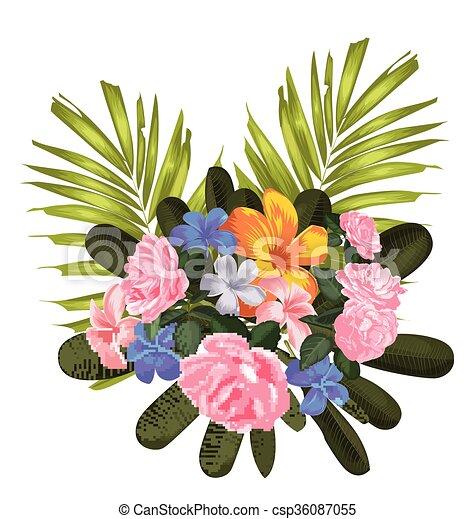 Flores ramo - csp36087055