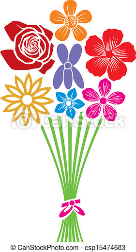 Bouquet de flores - csp15474683