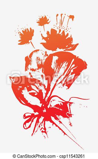 Un ramo de flores - csp11543261