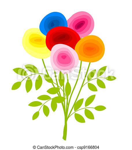 Un ramo de rosas - csp9166804