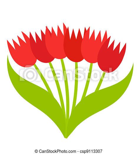Bouquet de tulipanes - csp9113307