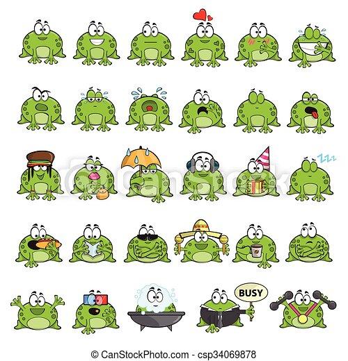 Ranas monas emocionales - csp34069878