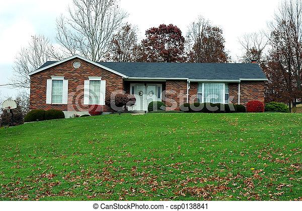 Ranch House in Autumn - csp0138841