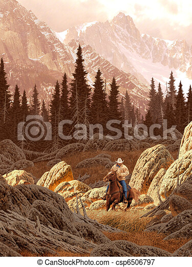 Rocky Mountain Rancher - csp6506797