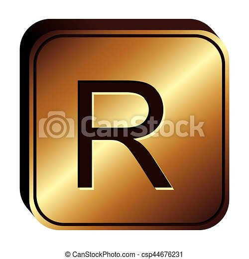 Rand Currency Symbol Icon Image Vector Illustration