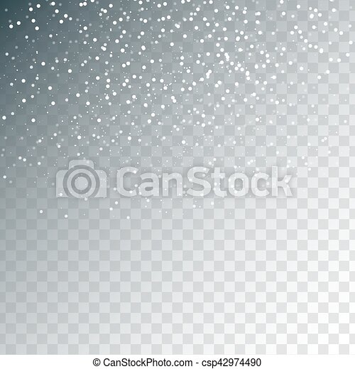 gold twinkling light background random falling silver snowflakes transparent background abstract pattern glitter banner for greeting christmas and new year