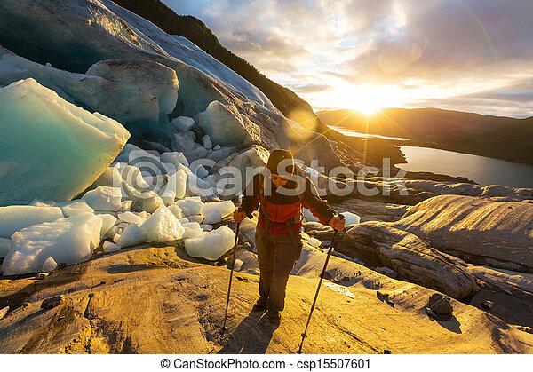 randonnée, norvège - csp15507601