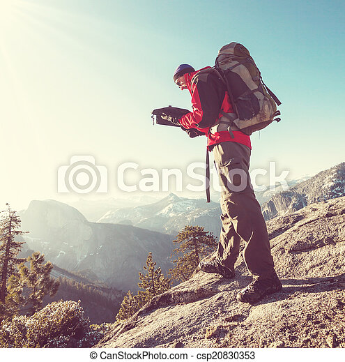 randonnée, yosemite - csp20830353