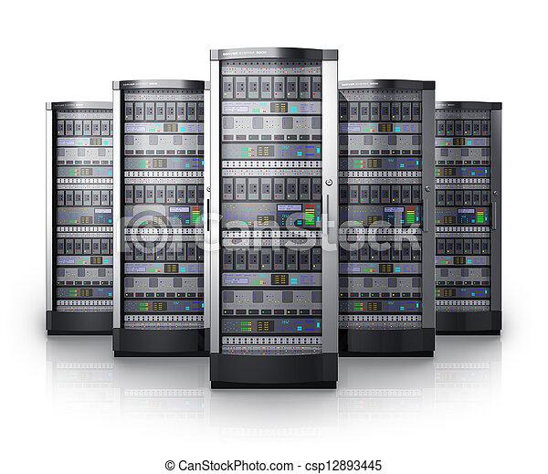 rang, réseau, centre, serveurs, données - csp12893445