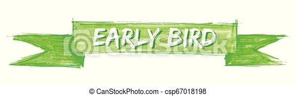 ranní ptáče, lem - csp67018198
