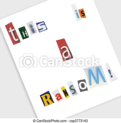 Ransom note a ransom note spelled out using cut magazine letters ransom note csp3773143 spiritdancerdesigns Images