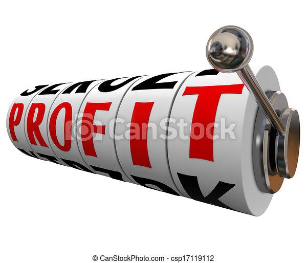 Las tragaperras hacen dinero - csp17119112
