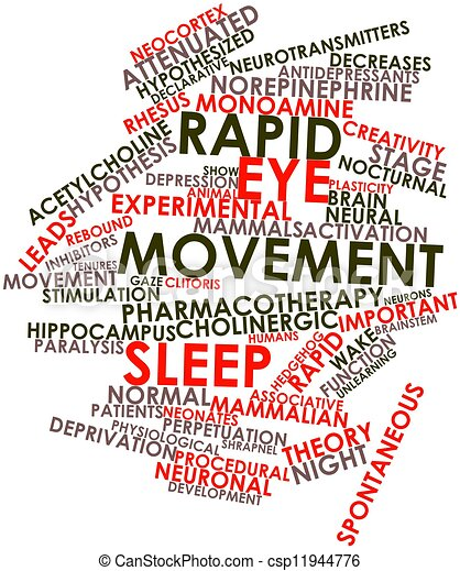 Rapid eye movement sleep - csp11944776