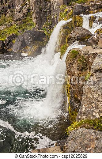 Rapid river - Westfjords, Iceland. - csp12025829
