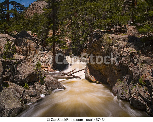 Rapids in the Rocky Mountains - csp1457434