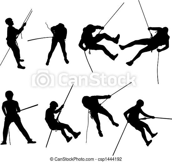 Rappel Silhouettes Vector Illustration Of Some