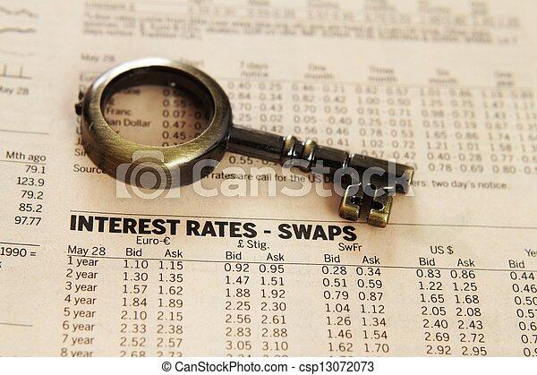 rapport, -, anslår, interesse - csp13072073