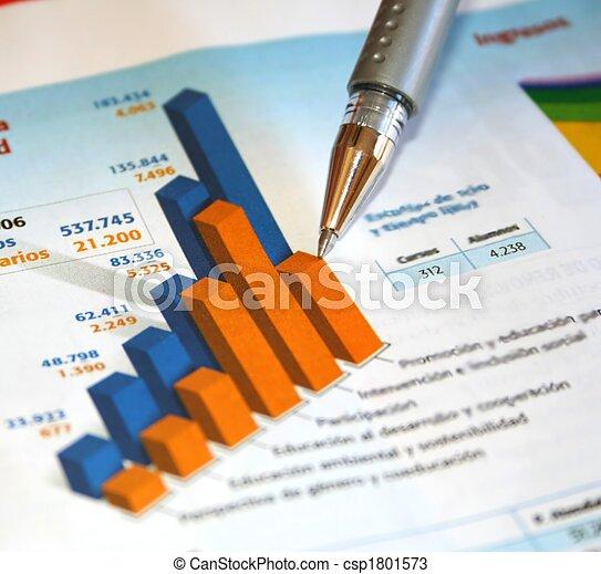rapport, boekhouding - csp1801573