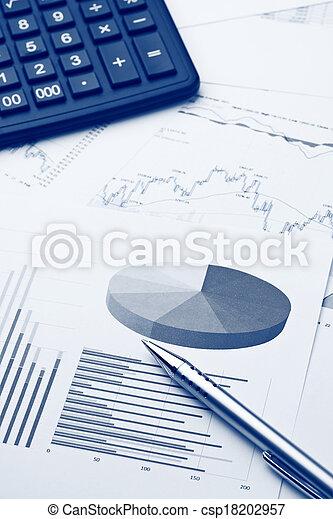 rapport, financier - csp18202957