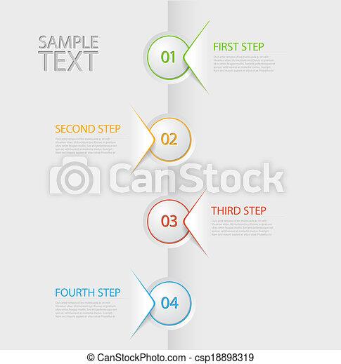 rapport, tijdsverloop, infographic, mal - csp18898319