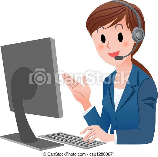 rappresentante, assistenza clienti - csp12800671