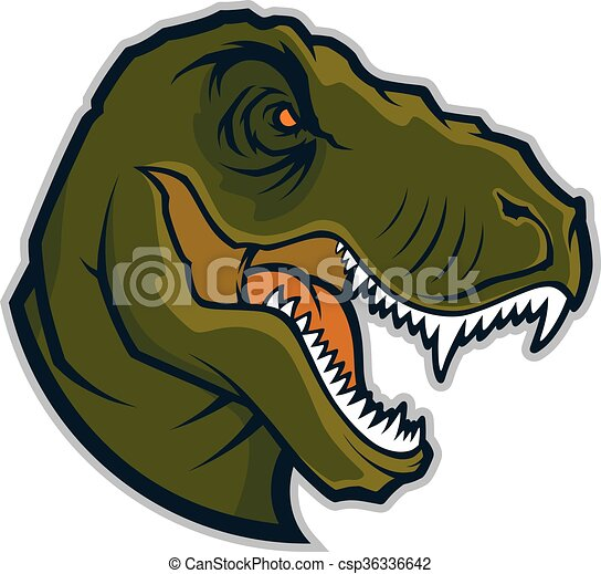 Raptor head mascot - csp36336642