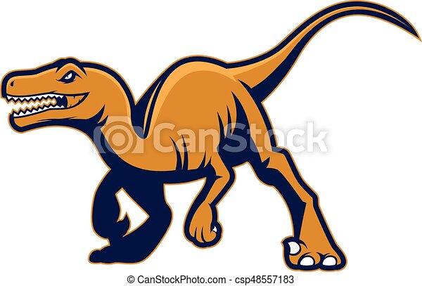raptor mascot clipart picture of a raptor cartoon mascot logo rh canstockphoto com Raptor Clip Art Black Raptor Outline
