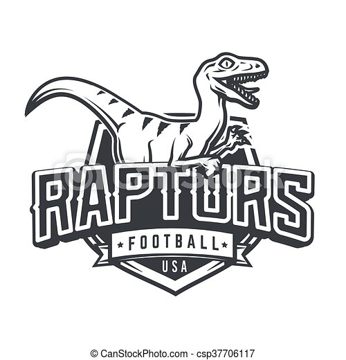 Raptor sport logo mascot design. vintage college team coat... vector ...
