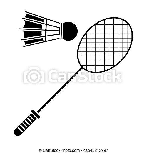 Raquette badminton volant sport pictogramme 10 - Raquette dessin ...