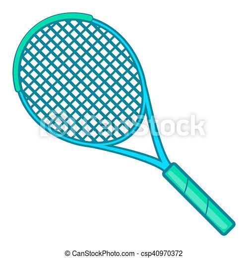Raquette ic ne style tennis dessin anim style - Raquette dessin ...