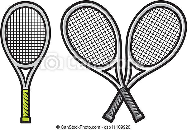 raquette, tennis - csp11109920