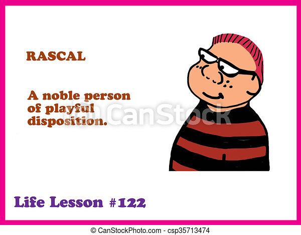 rascal education cartoon about a rascal