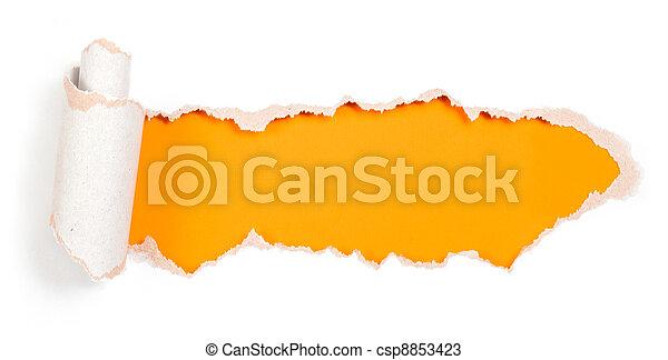 rasgado, bordes, papel, diseño, plantilla, agujero - csp8853423
