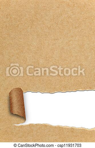 rasgado, espaço, papel, recicle, sortimento, cópia - csp11931703