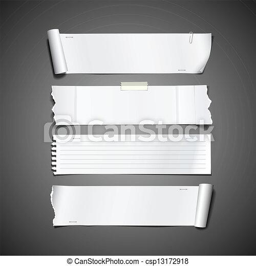Rollo de papel blanco diseño rasgado - csp13172918