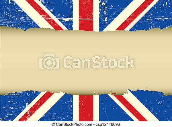 La bandera rayada del Reino Unido - csp12448696