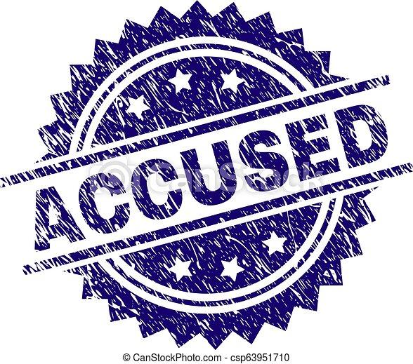 Sello de sello de sello de sello de sello acusado - csp63951710