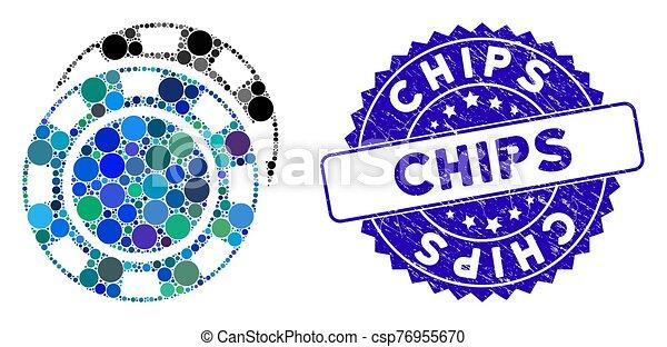 rasguñado, icono, pedacitos, estampilla, casino, mosaico - csp76955670