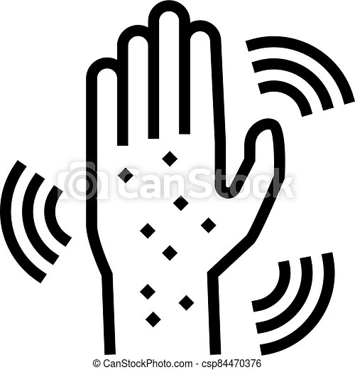 rash hand line icon vector illustration - csp84470376