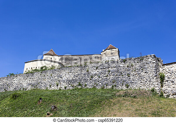 Rasnov fortress in a sunny spring day - csp65391220
