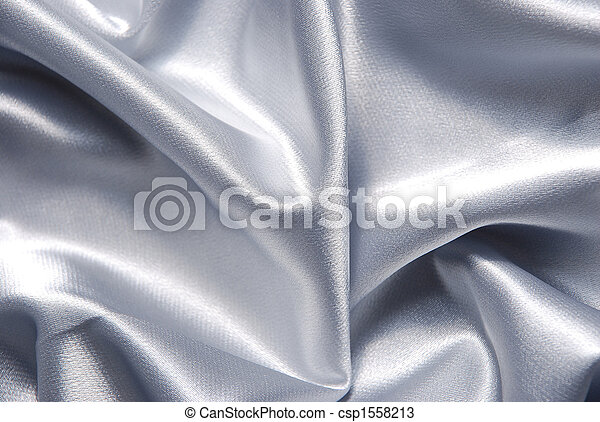 Un fondo de satén blanco - csp1558213