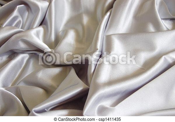 Un fondo de satén blanco - csp1411435