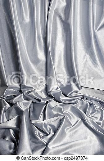 Un fondo de satén blanco - csp2497374