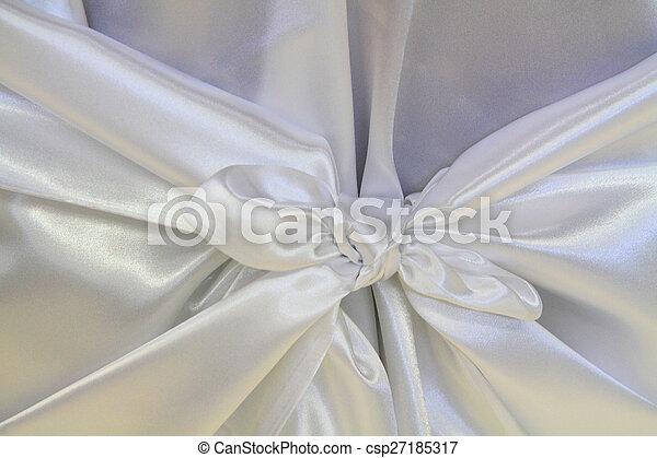 Trasfondo de satén blanco - csp27185317