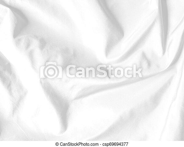 Textura de fondo de satén blanco - csp69694377